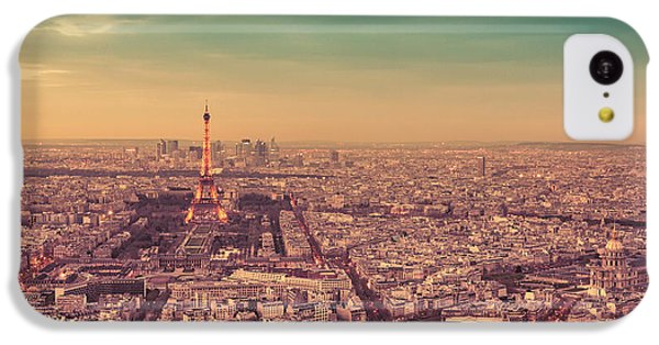 City Sunset iPhone 5c Case - Paris - Eiffel Tower And Cityscape At Sunset by Vivienne Gucwa