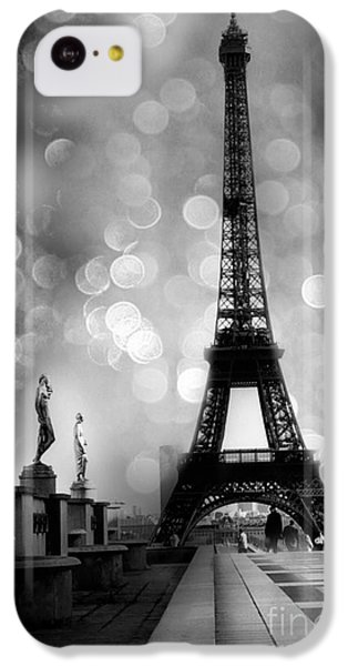 Paris Eiffel Tower Surreal Black And White Photography - Eiffel Tower Bokeh Surreal Fantasy Night  IPhone 5c Case