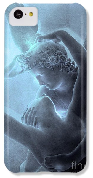Louvre iPhone 5c Case - Eros And Psyche Louvre Sculpture - Paris Eros And Psyche Romance Lovers  by Kathy Fornal
