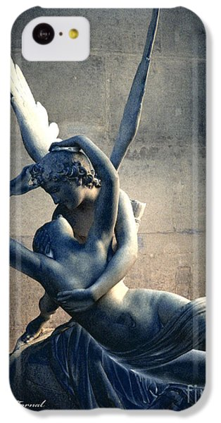 Louvre iPhone 5c Case - Paris Eros And Psyche Romantic Lovers - Paris In Love Eros And Psyche Louvre Sculpture  by Kathy Fornal