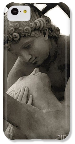 Paris - Eros And Psyche Romantic Sculpture IPhone 5c Case by Kathy Fornal