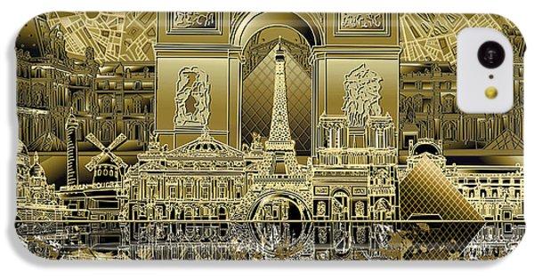 Paris Skyline Landmarks 4 IPhone 5c Case