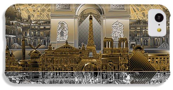 Paris Skyline Landmarks 5 IPhone 5c Case