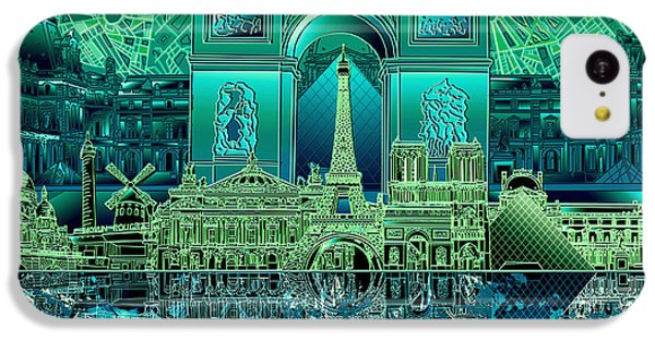 Paris Skyline Landmarks 6 IPhone 5c Case