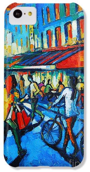 Parisian Cafe IPhone 5c Case by Mona Edulesco