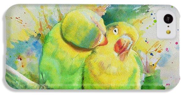 Parakeet iPhone 5c Case - Parrots by Catf