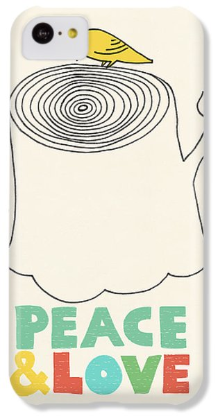 Peace And Love IPhone 5c Case by Eric Fan