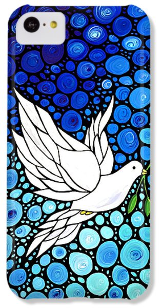 Peaceful Journey - White Dove Peace Art IPhone 5c Case by Sharon Cummings
