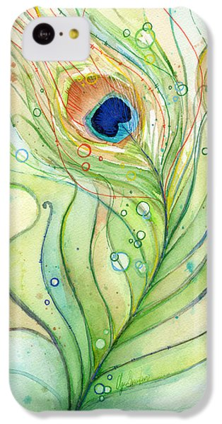 Peacock Feather Watercolor IPhone 5c Case