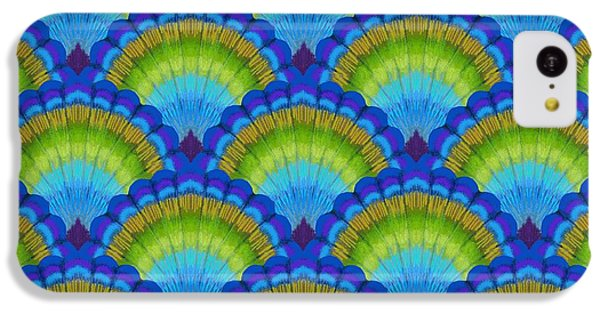 Peacock iPhone 5c Case - Peacock Scallop Feathers by Kimberly McSparran