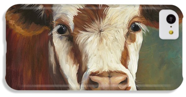Cow iPhone 5c Case - Pearl Iv Cow Painting by Cheri Wollenberg