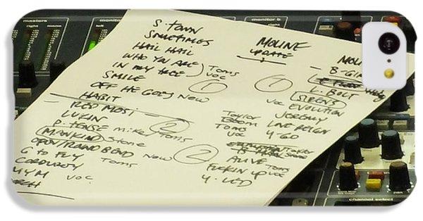 Pearl Jam Set List- Moline IPhone 5c Case by Gary Koett