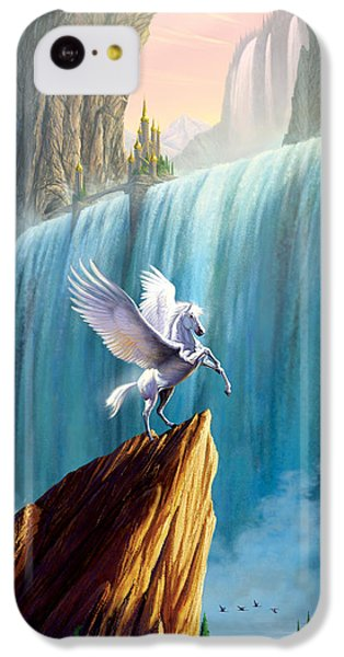 Pegasus Kingdom IPhone 5c Case by Garry Walton