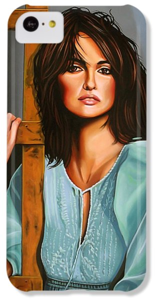 Penelope Cruz IPhone 5c Case by Paul Meijering