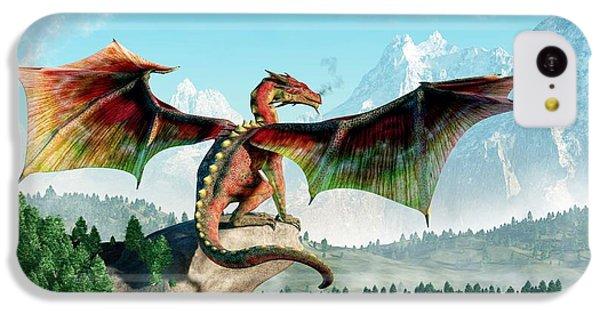 Dungeon iPhone 5c Case - Perched Dragon by Daniel Eskridge