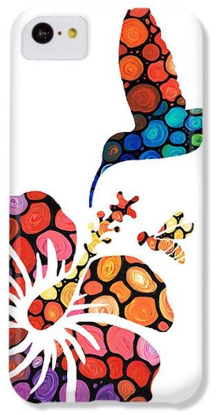 Humming Bird iPhone 5c Case - Perfect Harmony - Nature's Sharing Art by Sharon Cummings