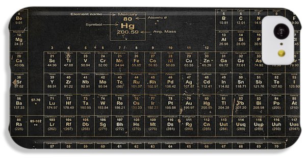 The iPhone 5c Case - Periodic Table Of The Elements by Grace Pullen