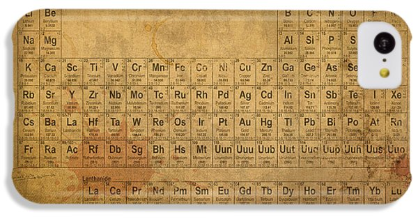 The iPhone 5c Case - Periodic Table Of The Elements by Design Turnpike