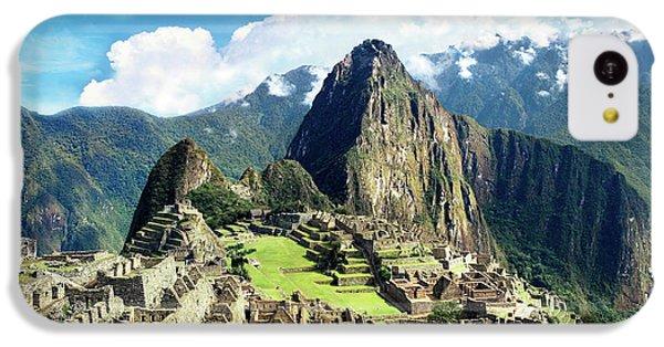 Llama iPhone 5c Case - Peru, Machu Picchu, The Lost City by Miva Stock