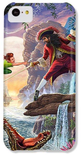 Crocodile iPhone 5c Case - Peter Pan And Captain Hook by Steve Crisp
