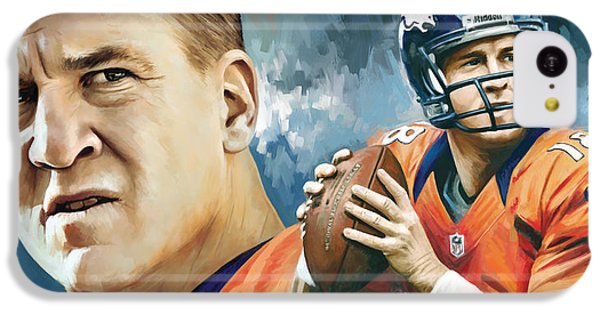 Peyton Manning Artwork IPhone 5c Case