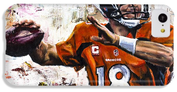 Peyton Manning IPhone 5c Case by Mark Courage