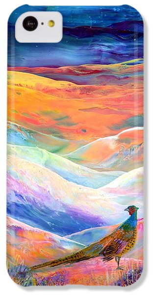 Pheasant iPhone 5c Case - Pheasant Moon by Jane Small