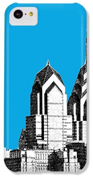 Philadelphia Skyline Liberty Place 1 - Ice Blue IPhone 5c Case by DB Artist