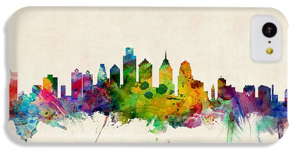 Philadelphia Skyline IPhone 5c Case by Michael Tompsett