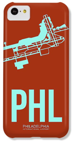 Phl Philadelphia Airport Poster 2 IPhone 5c Case by Naxart Studio