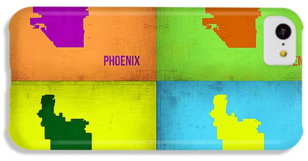 Phoenix Pop Art Map IPhone 5c Case by Naxart Studio