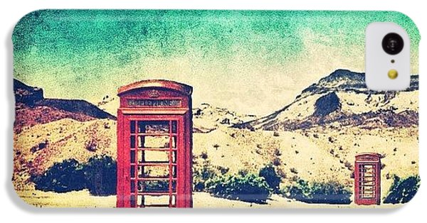 #phone #telephone #box #booth #desert IPhone 5c Case by Jill Battaglia