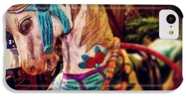 Decorative iPhone 5c Case - Blue Heaven Carousel Horse by Dani Hoy