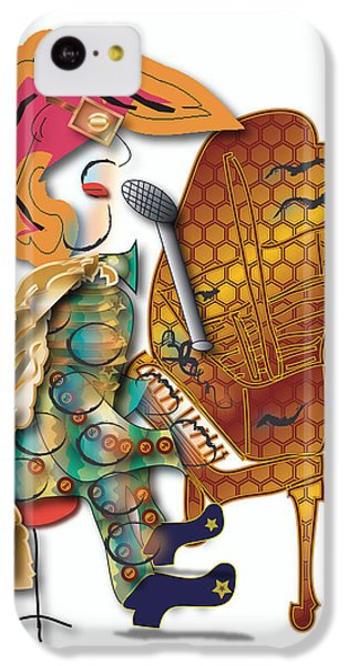 IPhone 5c Case featuring the digital art Piano Man by Marvin Blaine