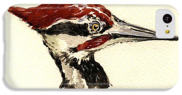Woodpecker iPhone 5c Case - Pileated Woodpecker Head Study by Juan  Bosco