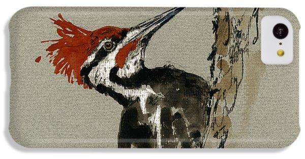 Woodpecker iPhone 5c Case - Pileated Woodpecker by Juan  Bosco
