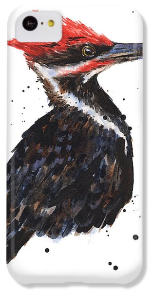 Pileated Woodpecker Watercolor IPhone 5c Case by Alison Fennell