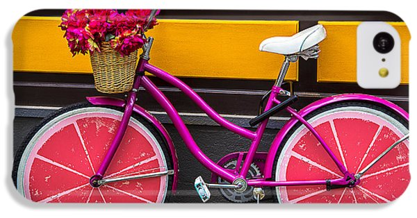 Bicycle iPhone 5c Case - Pink Bike by Garry Gay