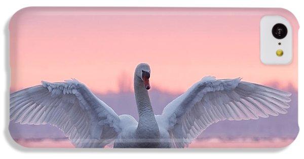 Swan iPhone 5c Case - Pink Swan by Roeselien Raimond