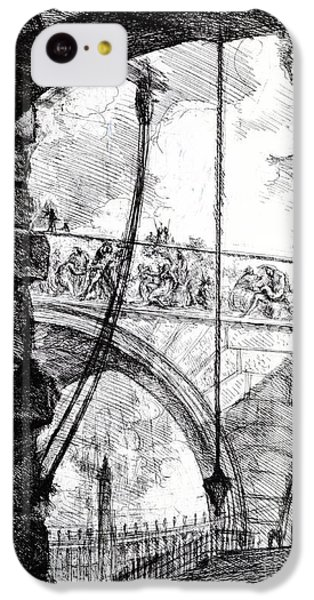 Plate 4 From The Carceri Series IPhone 5c Case by Giovanni Battista Piranesi