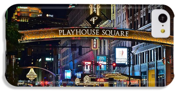 Lebron James iPhone 5c Case - Playhouse Square by Frozen in Time Fine Art Photography