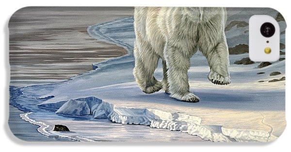 Polar Bear iPhone 5c Case - Polar Bear On Icy Shore    by Paul Krapf