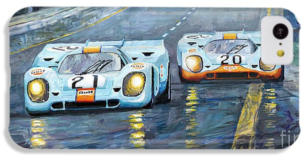 Car iPhone 5c Case - Porsche 917 K Gulf Spa Francorchamps 1971 by Yuriy Shevchuk