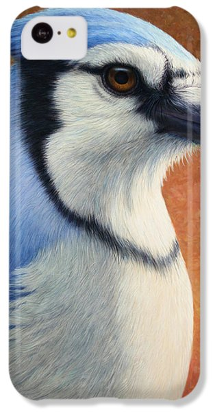Bluejay iPhone 5c Case - Portrait Of A Bluejay by James W Johnson