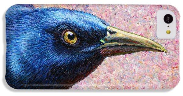 Raven iPhone 5c Case - Portrait Of A Grackle by James W Johnson