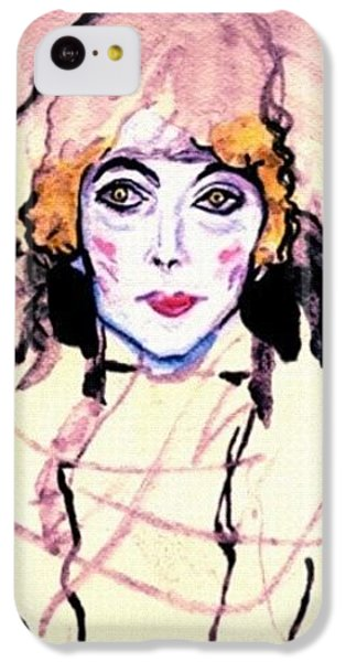 iPhone 5c Case - Portrait Of A Lady En Face After Gustav Klimt by Anna Porter
