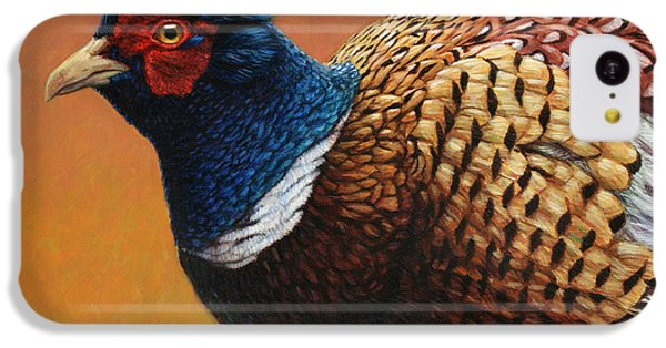 Pheasant iPhone 5c Case - Portrait Of A Pheasant by James W Johnson