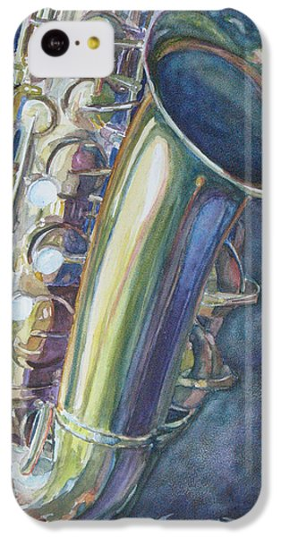 Portrait Of A Sax IPhone 5c Case by Jenny Armitage