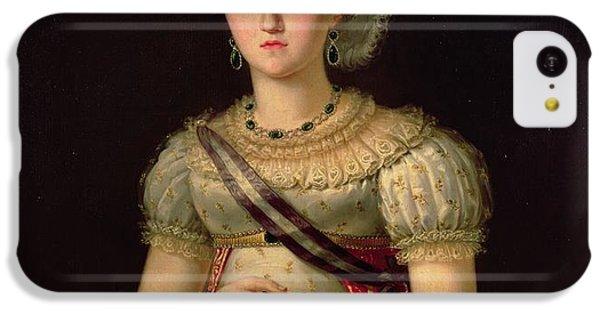 Ostrich iPhone 5c Case - Portrait Of Maria Josephine Amalia Of Saxony by Francisco Lacoma