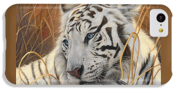 Portrait White Tiger 1 IPhone 5c Case by Lucie Bilodeau
